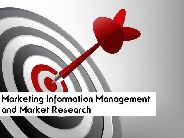 Marketing-Information Managementand Market Research