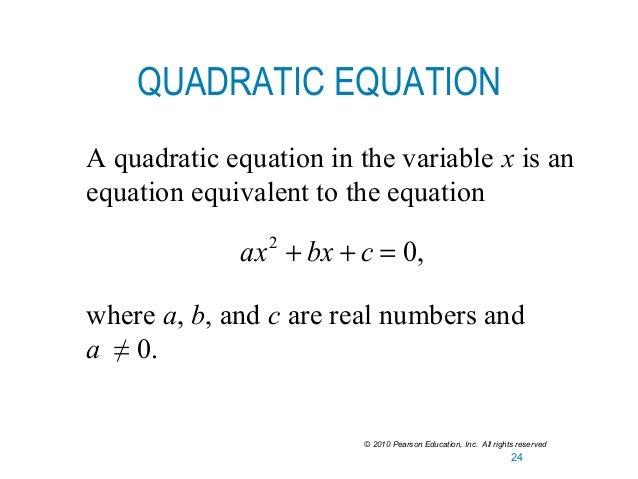 Lesson 3 solving linear & quadratic equations