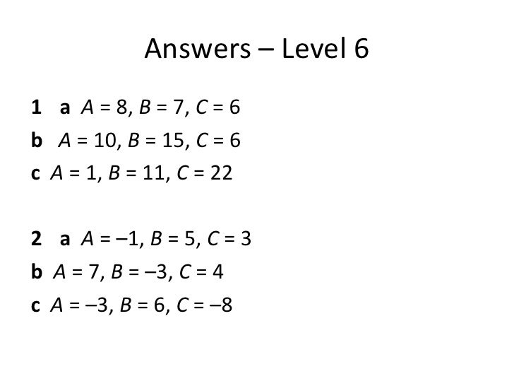 Lesson 3 solving problems using algebra