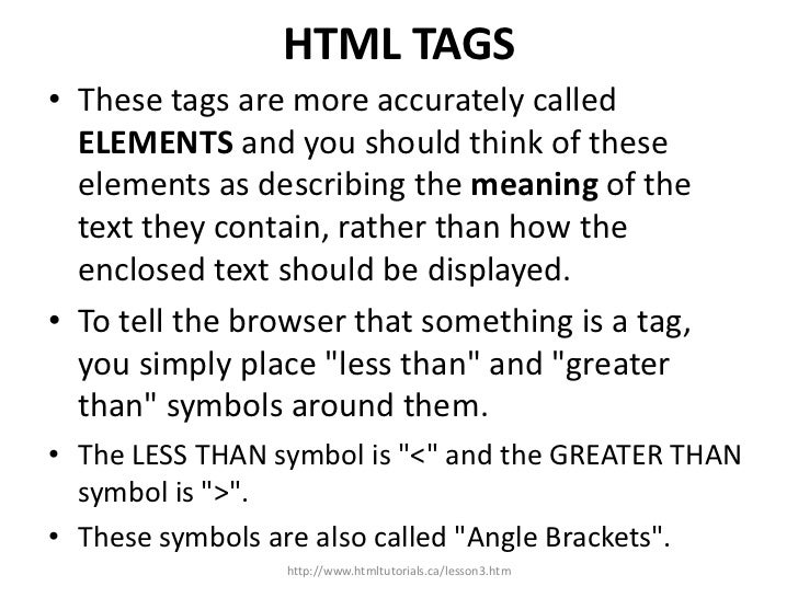 Lesson 3 Understanding The Basic Tags Updated