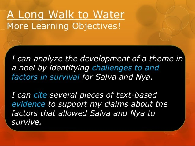 A Long Walk to Water: Lesson3 unit2