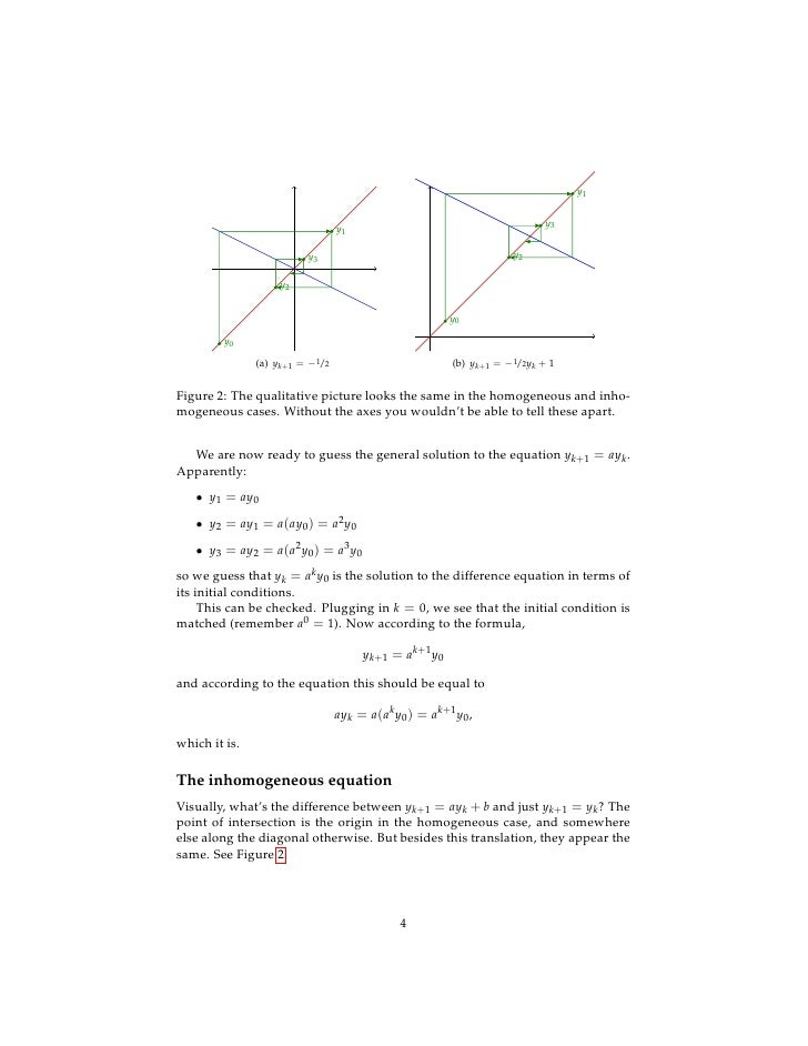 Lesson30 First Order Difference Equations Handout The formula or algebraic rule for a quadratic function is often written as. first order difference equations handout