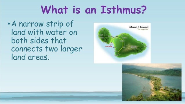 What is a narrow strip of land joining two larger bodies of land?