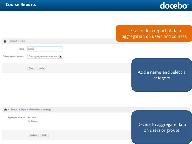 How To Create Reports With The Docebo ELearning Platform  Part