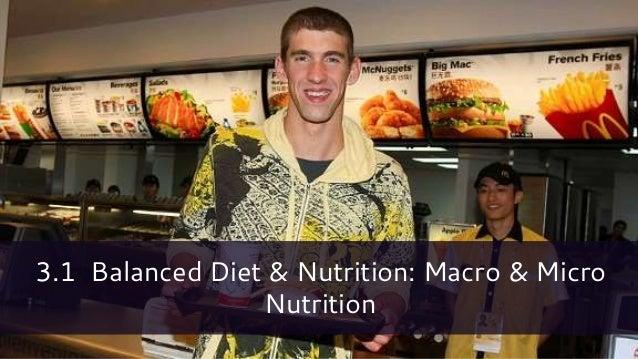 3.1 Balanced Diet & Nutrition: Macro & Micro Nutrition