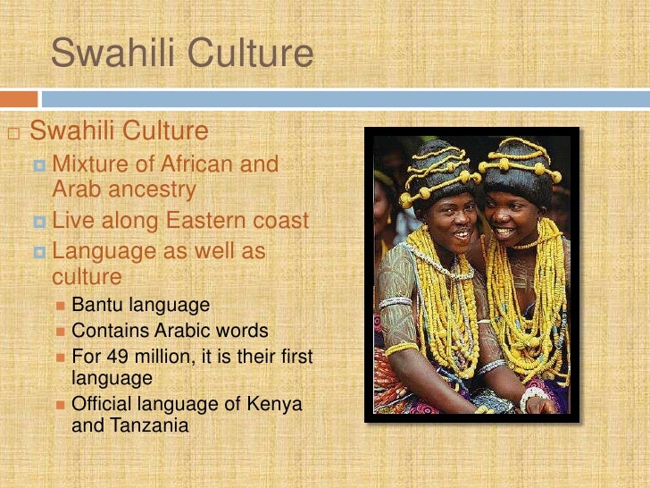 east african culture and language relationship