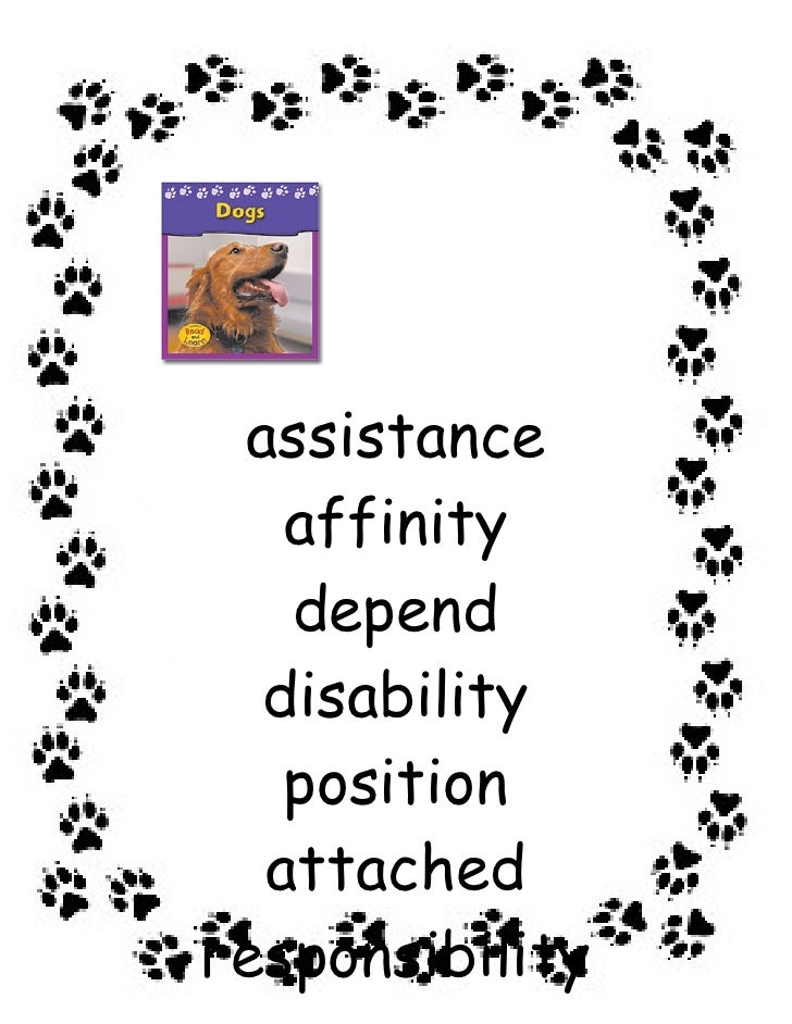 assistance    affinity    depend   disability    position   attached responsibility