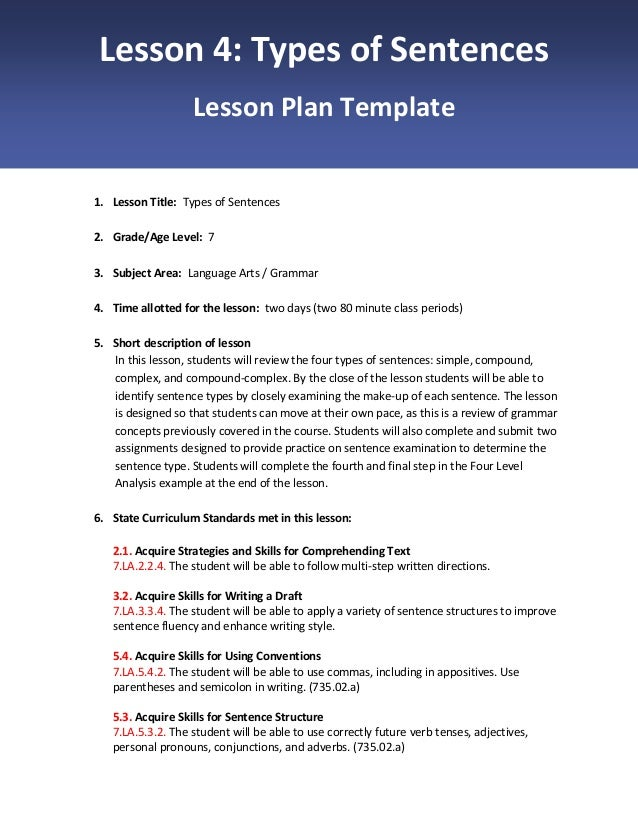 lesson plan in the 4 types Types lesson plans (individual) grades  this is an exceptional deal for a lesson plan template and  it addresses the common core standard rl45- explain major.