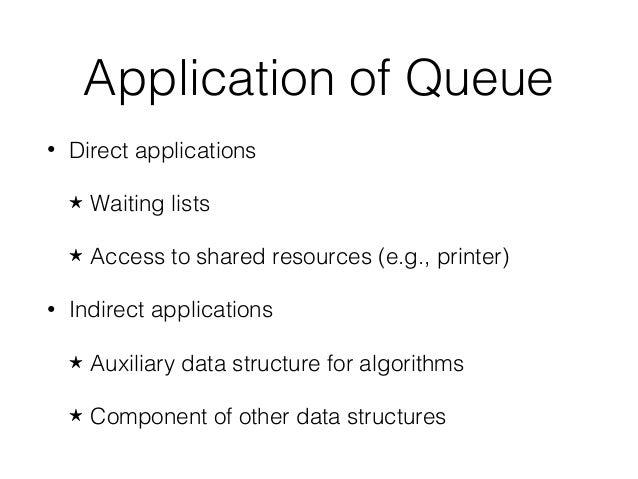 queue applications Hub102 - Lesson4 - Data Structure