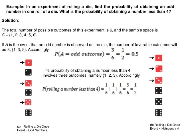 Intro to probability twice 15 16 example in an experiment of rolling a die ccuart Image collections