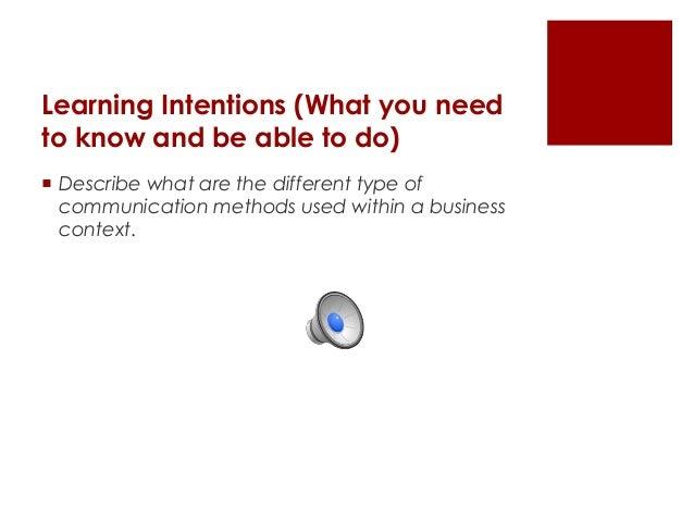 Lesson 4   types of communication methods Slide 2