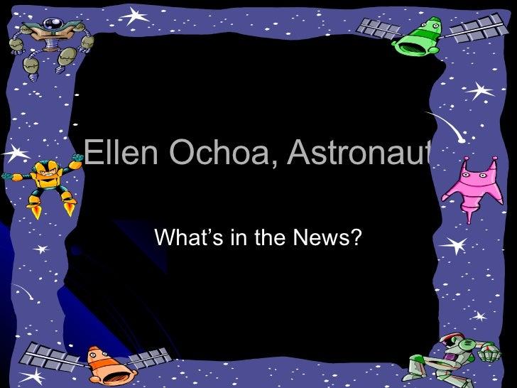 Ellen Ochoa Astronaut Vocabulary