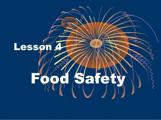 Lesson 4 Food Safety