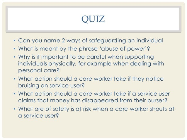 personal safety quiz for adults