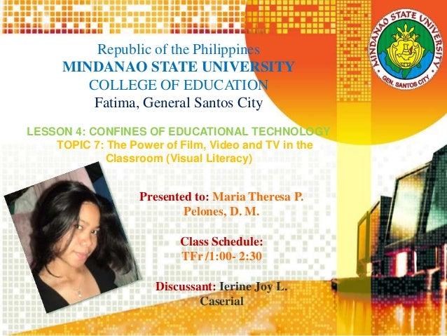 Republic of the Philippines MINDANAO STATE UNIVERSITY COLLEGE OF EDUCATION Fatima, General Santos City LESSON 4: CONFINES ...