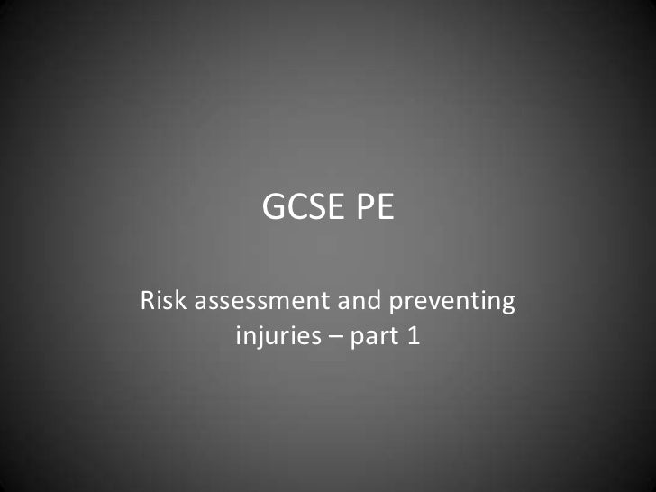 1.2.1 Lesson 5 - risk assessment part 1