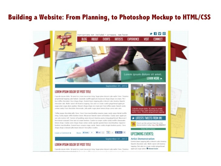 Building a Website: From Planning, to Photoshop Mockup to HTML/CSS