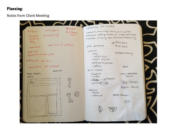 Planning:Notes from Client Mee/ng