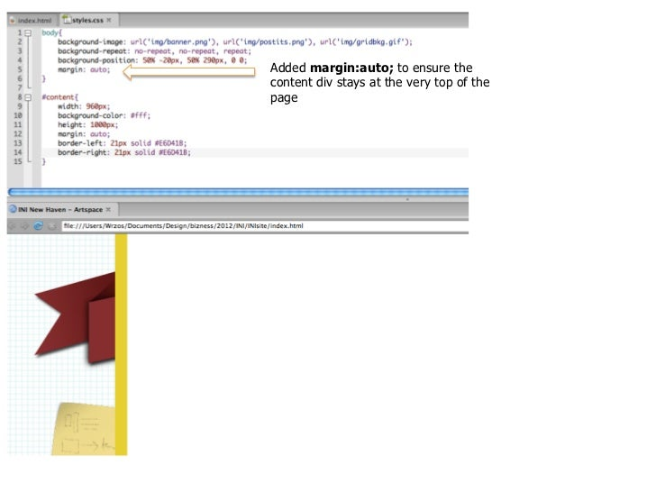 But the design calls for a dropshadow on either side of the contentdiv… how do we solve this problem?                     ...