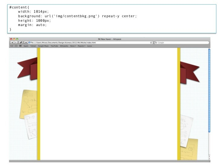 Breaking down the code:#content{    width: 1014px;The actual content area is 960px but to account for the border (20px eac...
