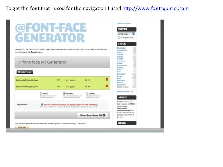 To style the naviga/on I used similar to the code I used for our dropsite tutorial. #nav u...
