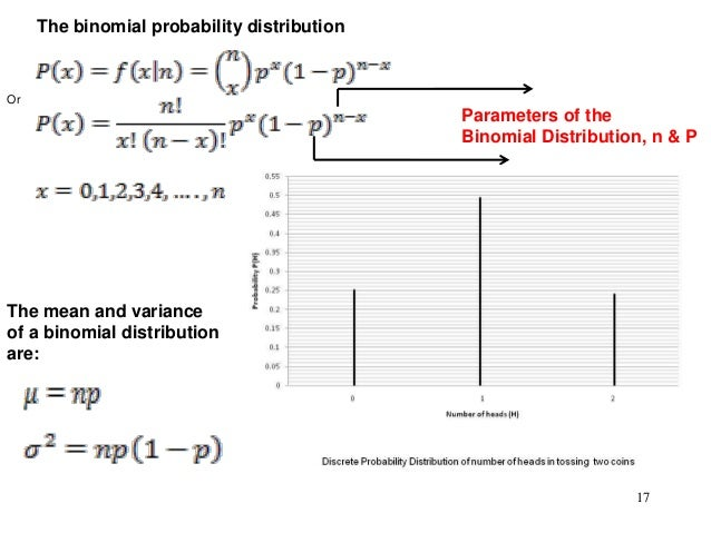 what are examples of variables that follow a binomial probability distribution Sums of independent random variables  negative binomial distribution with parameters pand k  outcome y taking on the value 3 with probability 1/4 and 4 with.