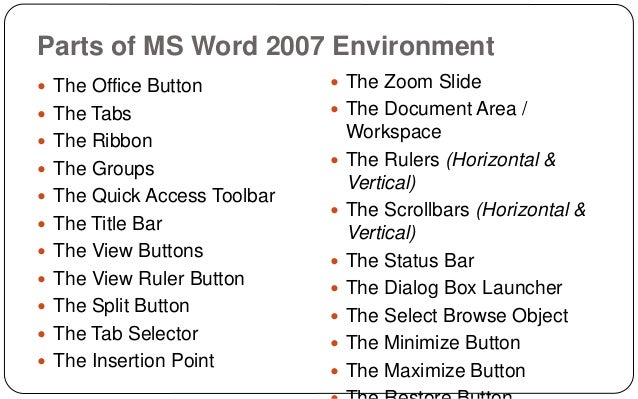 Lesson 5 ms office word 2007