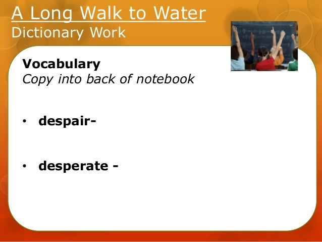 A Long Walk To Water Lesson5 Unit2