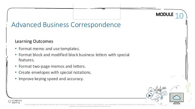 Lesson 57 letter review 1 module learning outcomes advanced business correspondence 10 format memo and use templates 2 block letter design lesson 57 letterhead spiritdancerdesigns Choice Image