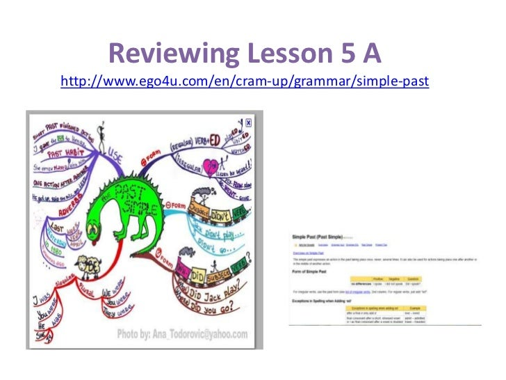 ReviewingLesson5 Ahttp://www.ego4u.com/en/cram-up/grammar/simple-past<br />