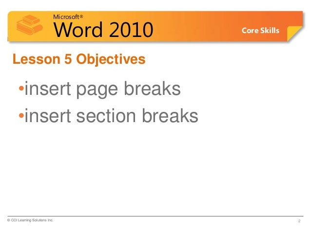 how to section break in word