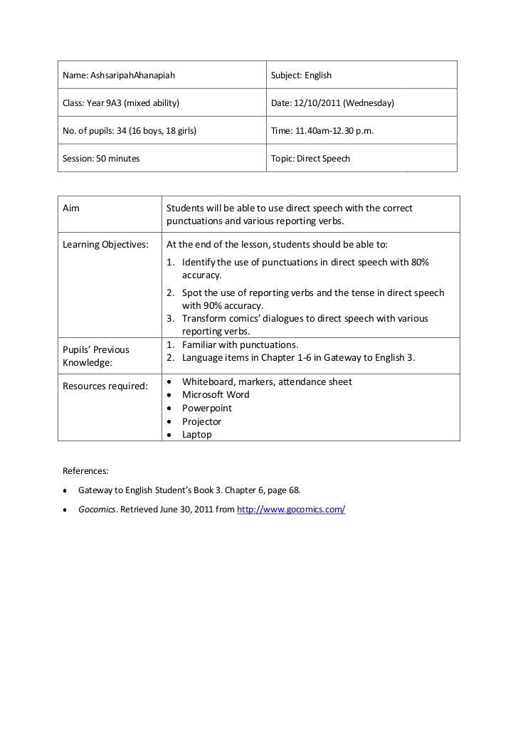 Speech writing lesson plans
