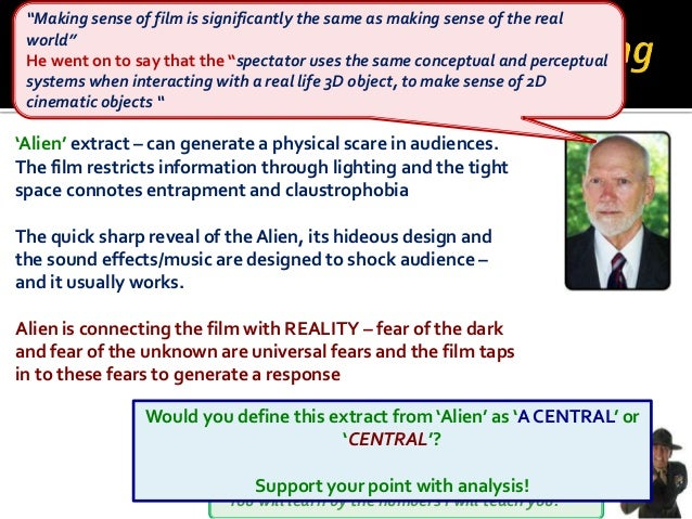 You will learn by the numbers I will teach you! 'Alien' extract – can generate a physical scare in audiences. The film res...
