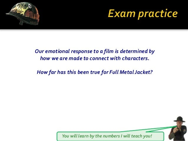 You will learn by the numbers I will teach you! Our emotional response to a film is determined by how we are made to conne...