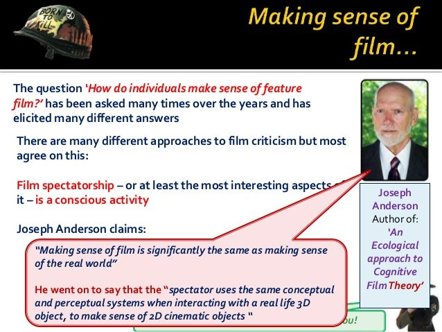 You will learn by the numbers I will teach you! The question 'How do individuals make sense of feature film?' has been ask...