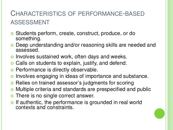 advantages of performance assessment