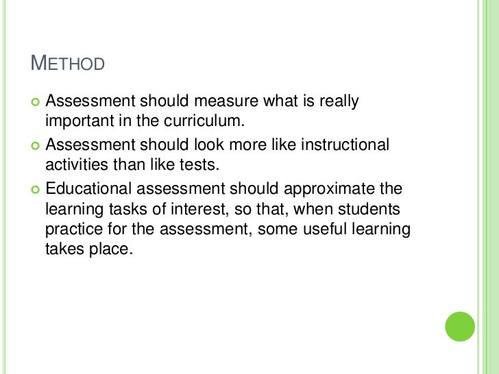 importance of performance assessment