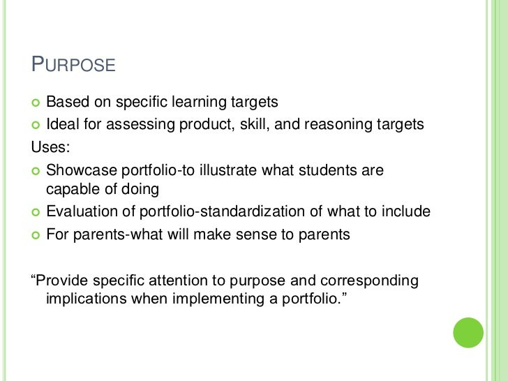 What's The Purpose Of The Performance Assessment