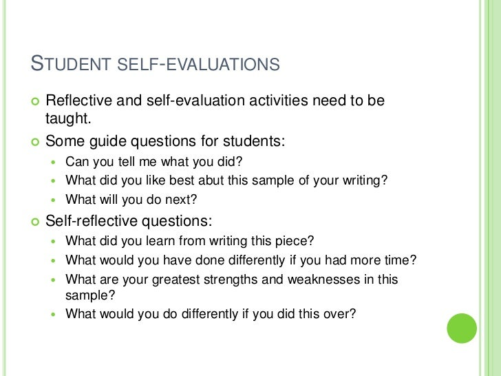 sample self reflective essays