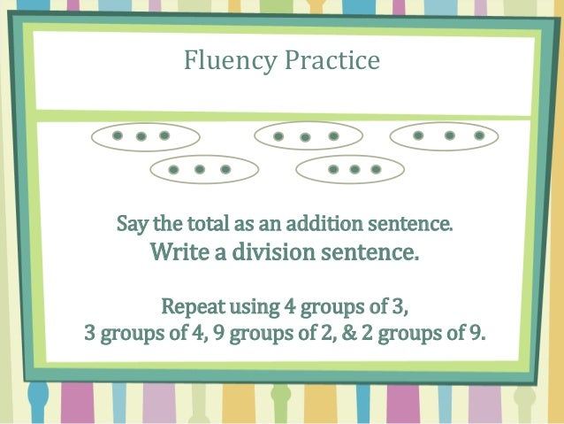 What Is a Division Sentence?