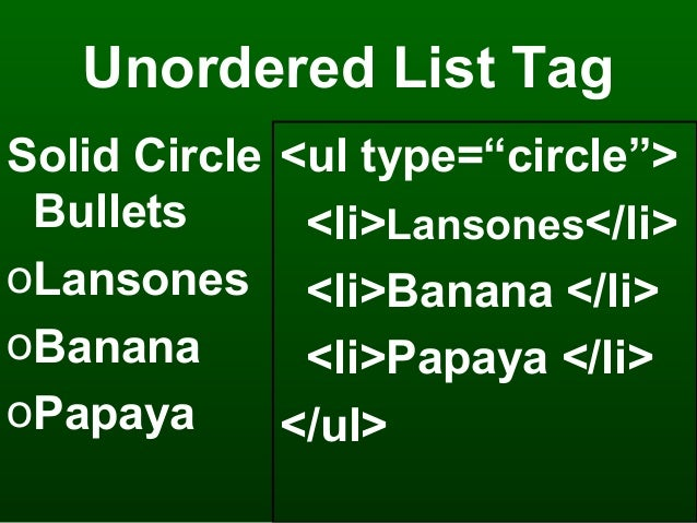 Ordered & unordered list in MS Frontpage 2003