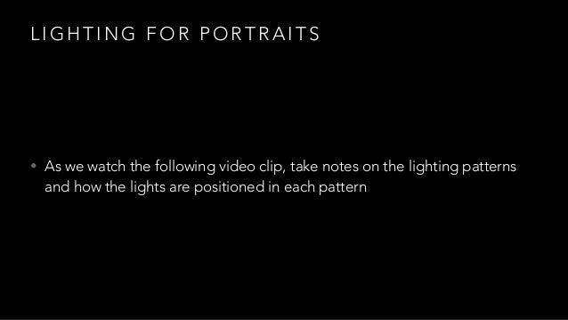 lighting pattern. fa m o u s p r t a i h g e lighting pattern