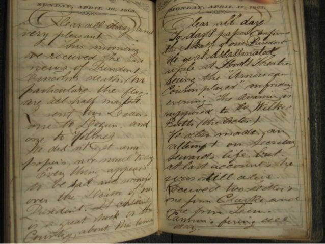 Pocket Diary Transcriptionof Charles H. Peterson        Sunday, April 16, 1865                  Monday, April 17, 1865Clea...