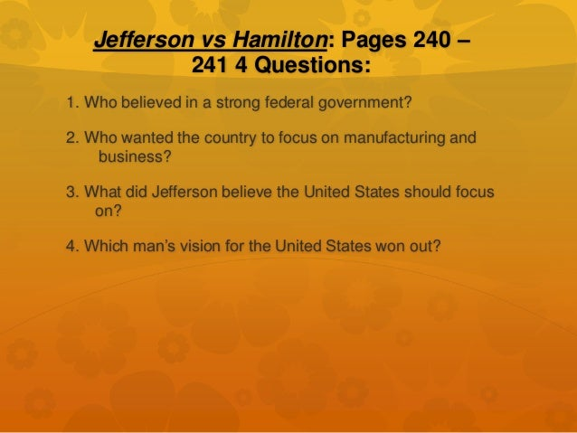 hamilton v jefferson jefferson vs hamilton