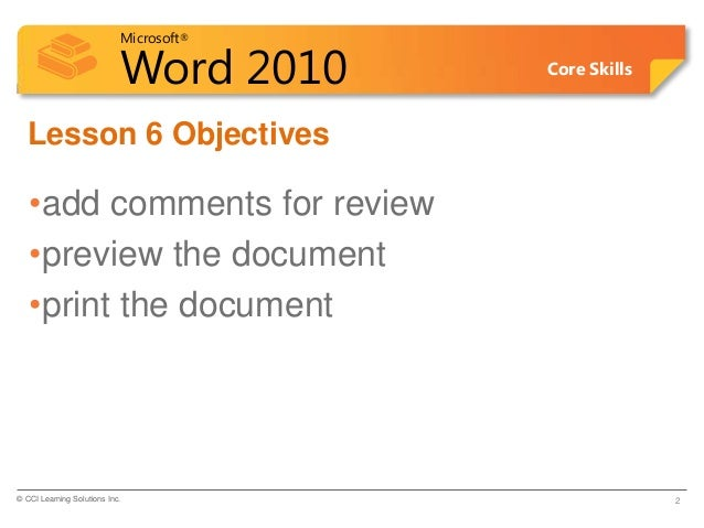 microsoft word 2010 pdf book cci learning solutions
