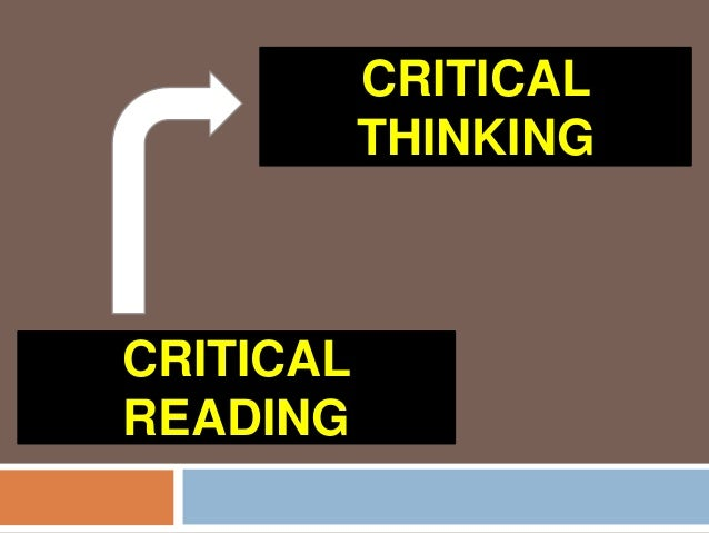 essays for critical reading What is critical reading critical reading is an important precursor to critical writing this study guide explains why critical reading is important.