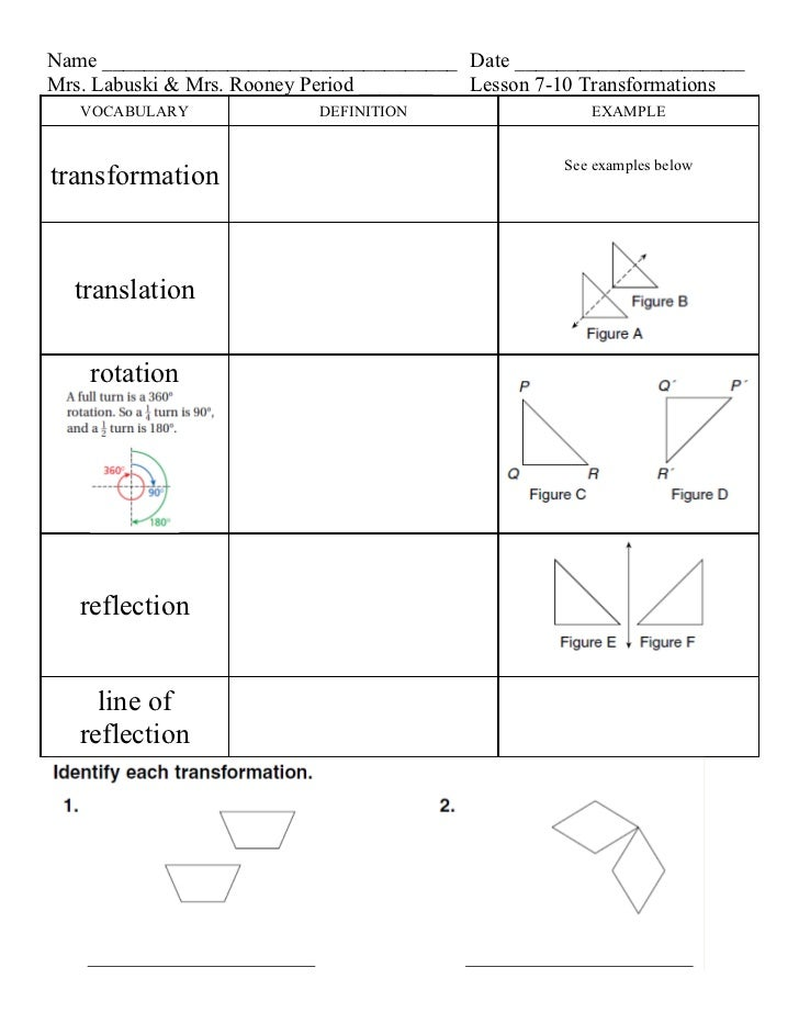 Lesson 7 10 transformations