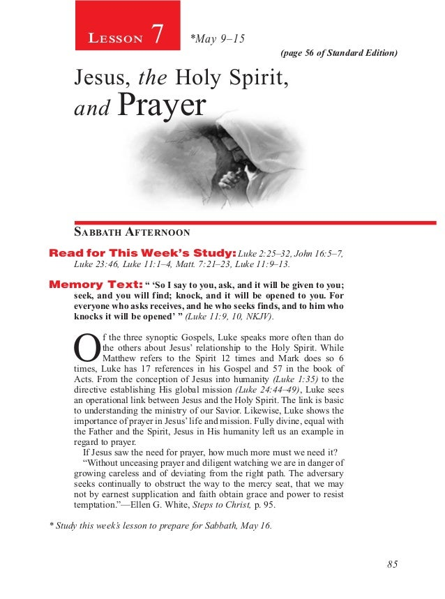 Pdf lesson 7 teachers edition jesus the holy spirit and pray 85 page 56 of standard edition lesson 7 may 915 jesus negle Image collections