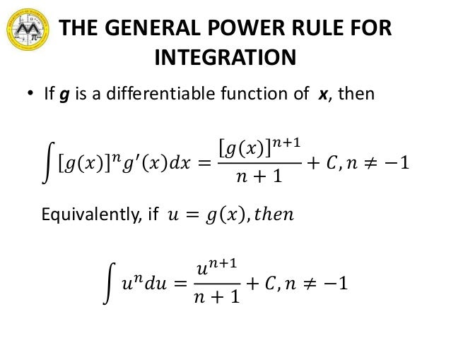 lesson 7 antidifferentiation generalized power formula