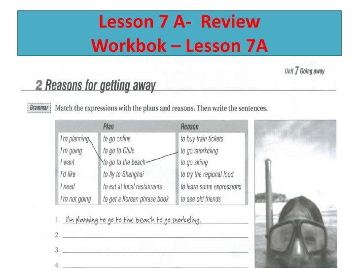 Lesson 7 A- ReviewWorkbok – Lesson 7A